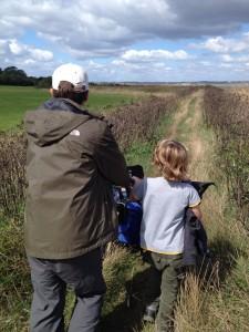 Accessing the Farm Tracks on All-terrain wheelchair.