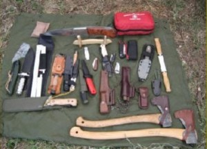 Bushcraft courses equipment