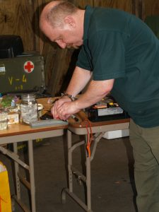 Knife safety and sharpening workshop