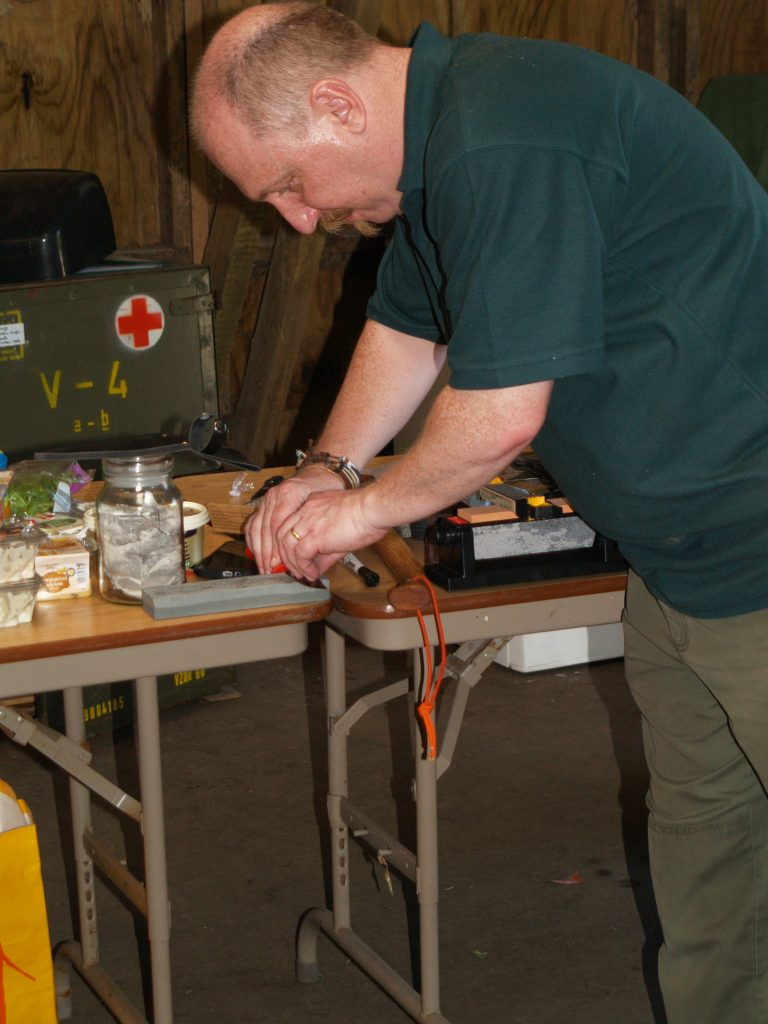 Knife safety and sharpening workshop